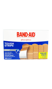 Band-Aid Tough Strips, One Size, 60 Band-aids - Green Valley Pharmacy Ottawa Canada