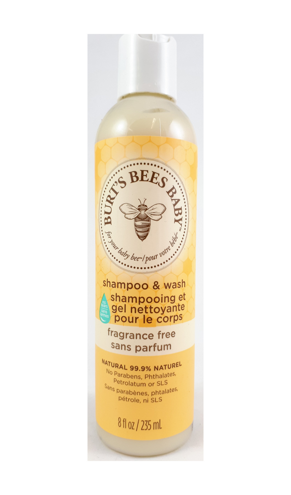 Burt's Bees Shampoo and Wash, Fragrance Free, 235 mL - Green Valley Pharmacy Ottawa Canada