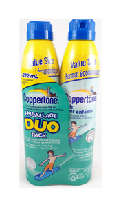 Coppertone Kid Sunscreen Duo 60 SPF, 2x222 mL - Green Valley Pharmacy Ottawa Canada