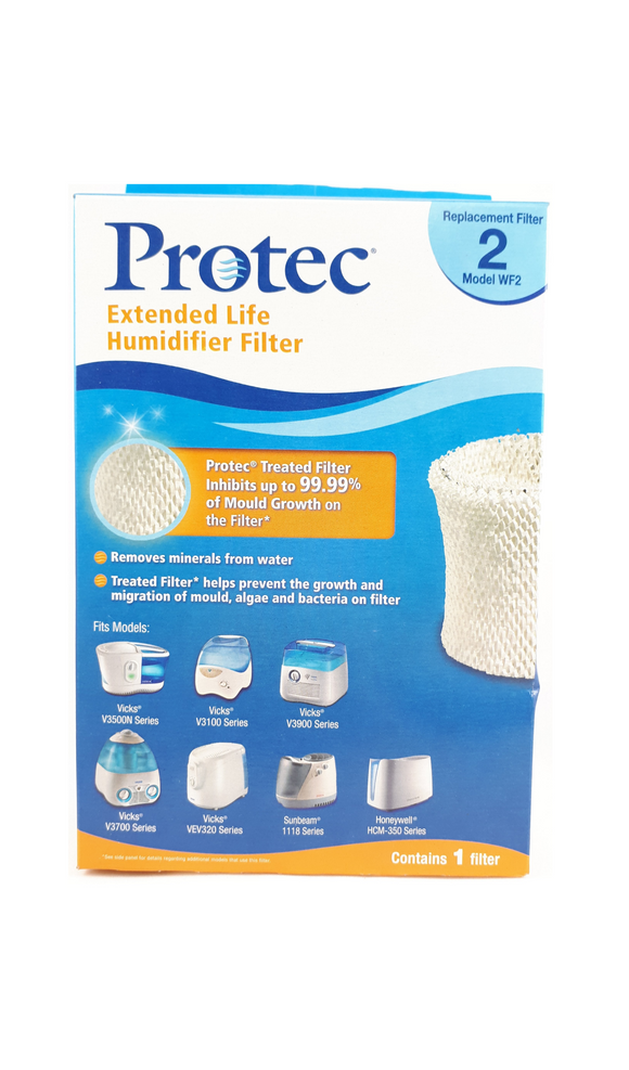 Protec Vicks Replacement filter, Model WF2, 1 Filter - Mobile Pharmacy Ottawa Canada