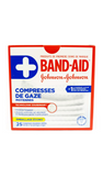 Band-Aid, Gauze Pads, Medium, 25 Pads - Green Valley Pharmacy Ottawa Canada
