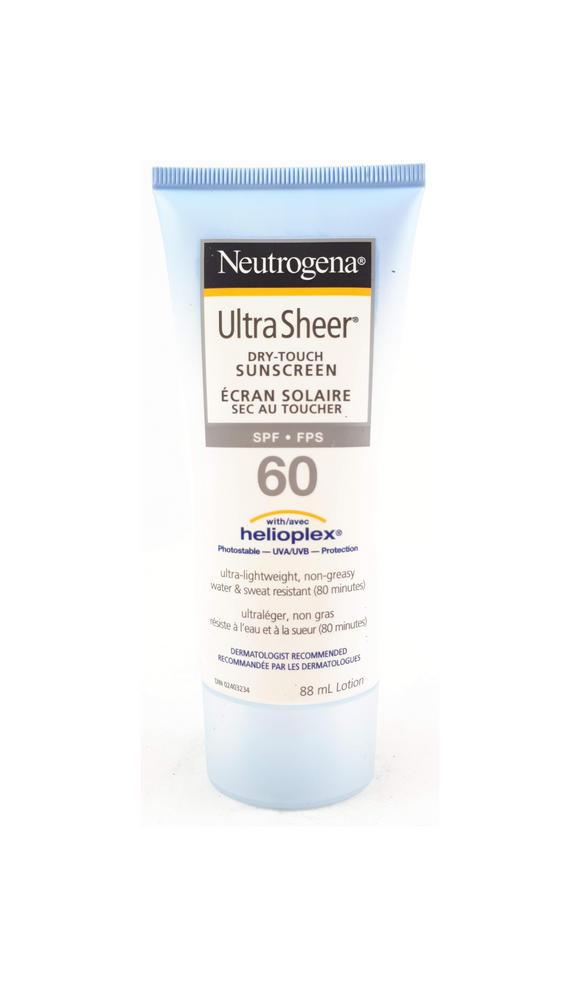 Neutrogena Ultra Sheer Dry Touch Sunscreen, SPF 60, 88 mL - Green Valley Pharmacy Ottawa Canada