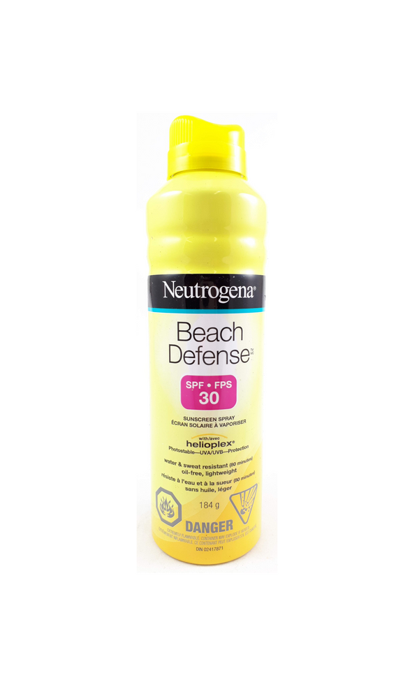 Neutrogena Beach Defense Spray for Kids, SPF 30, 184 g - Mobile Pharmacy Ottawa Canada