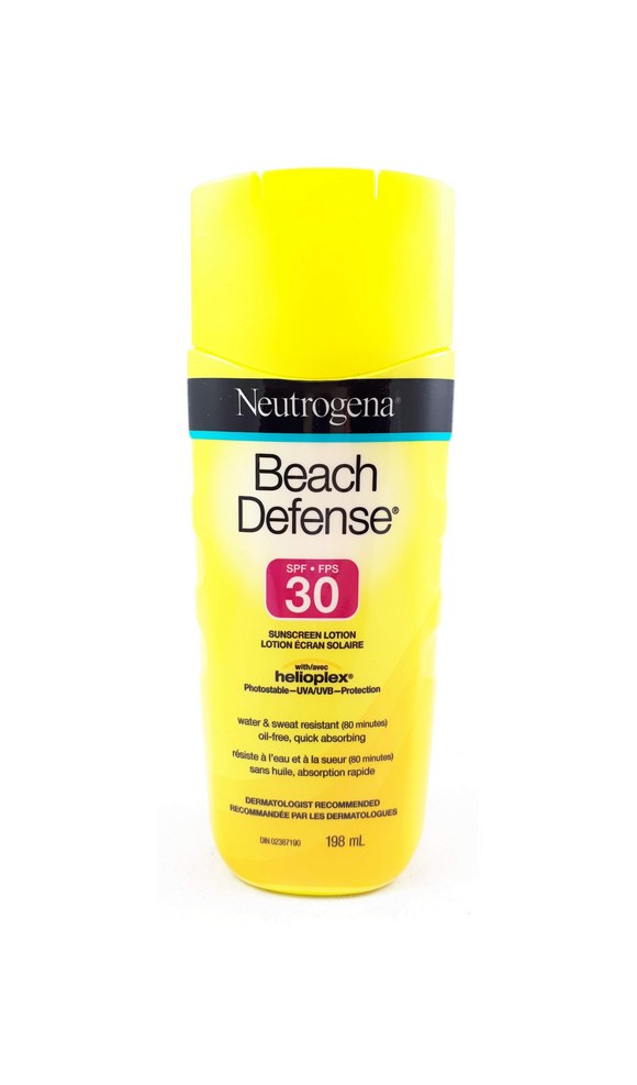 Neutrogena Beach Defense Lotion, SPF 30, 198 mL - Green Valley Pharmacy Ottawa Canada