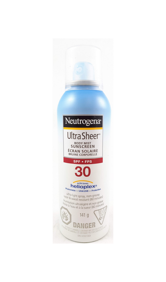Neutrogena Ultra Sheer Body Mist, SPF 30, 141g - Green Valley Pharmacy Ottawa Canada