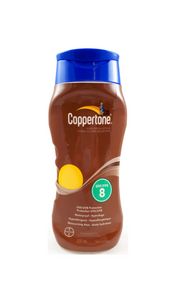 Coppertone Sunscreen Lotion, SPF 8, 237mL - Green Valley Pharmacy Ottawa Canada
