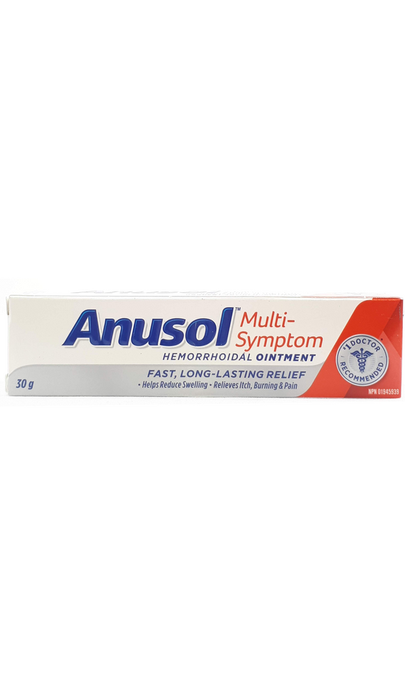 Anusol Ointment, Multi Sypmtom, 30 g - Green Valley Pharmacy Ottawa Canada