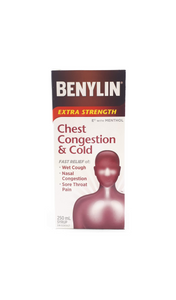 Benylin Extra-Strength Chest Congestion and Cold, 250ml - Green Valley Pharmacy Ottawa Canada