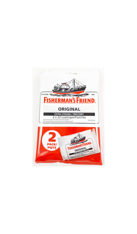 Fisherman's Friend, Orginal, 2 pack, 22 lozenges - Green Valley Pharmacy Ottawa Canada