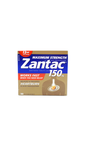 Zantac 150, 50 tablets - Green Valley Pharmacy Ottawa Canada