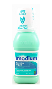 Imodium Calming Liquid, Mint Flavor, 240 mL - Green Valley Pharmacy Ottawa Canada