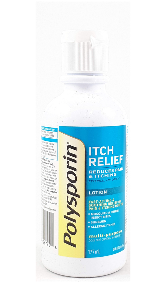 Polysporin Itch Relief Lotion, 177 mL - Green Valley Pharmacy Ottawa Canada