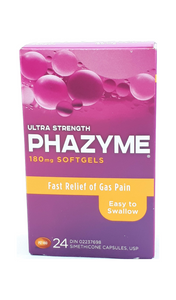 Phazyme, 180mg, 24 gel caps - Green Valley Pharmacy Ottawa Canada
