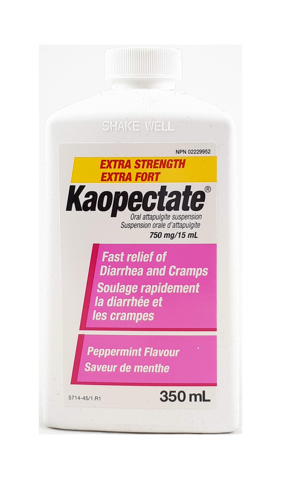 Kaopectate XS,  Mint Flavor, 350 mL - Green Valley Pharmacy Ottawa Canada