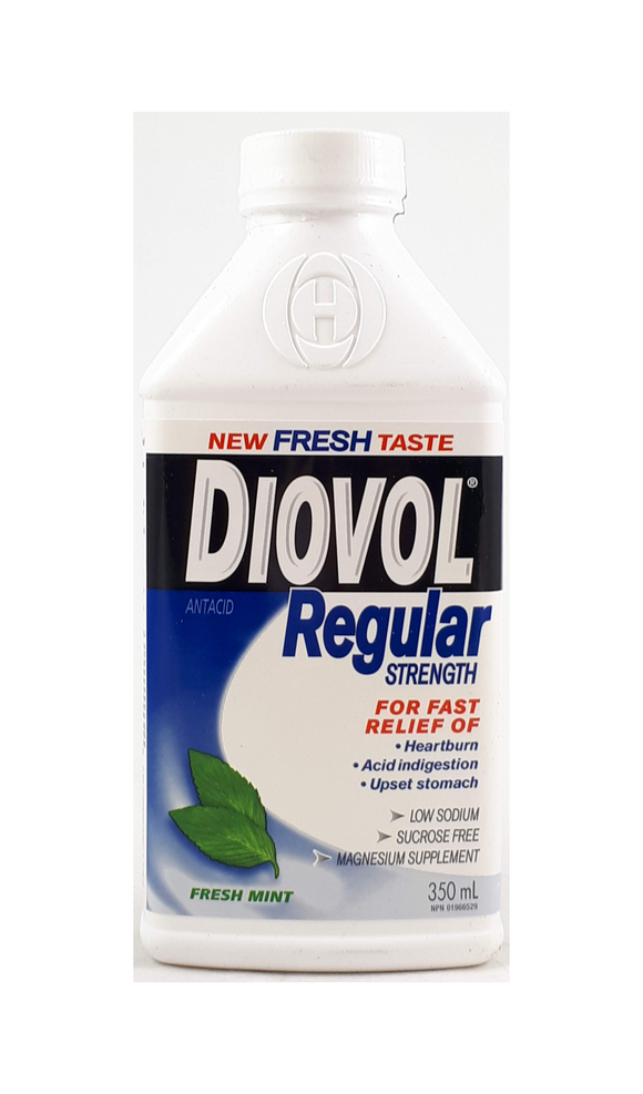 Diovol Regular, Mint Flavor, 350 mL - Green Valley Pharmacy Ottawa Canada