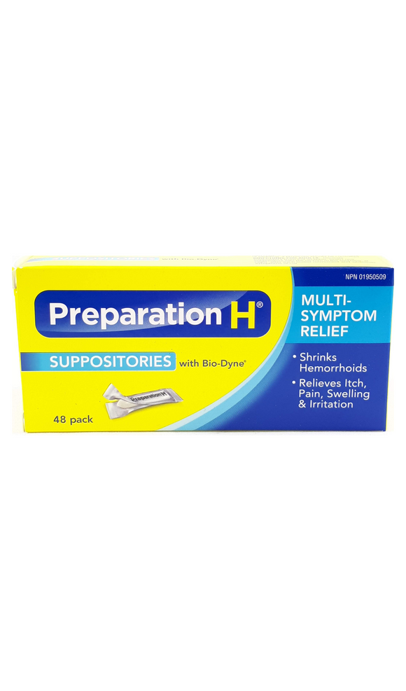Preparation H Suppositories, 48 suppositories - Green Valley Pharmacy Ottawa Canada