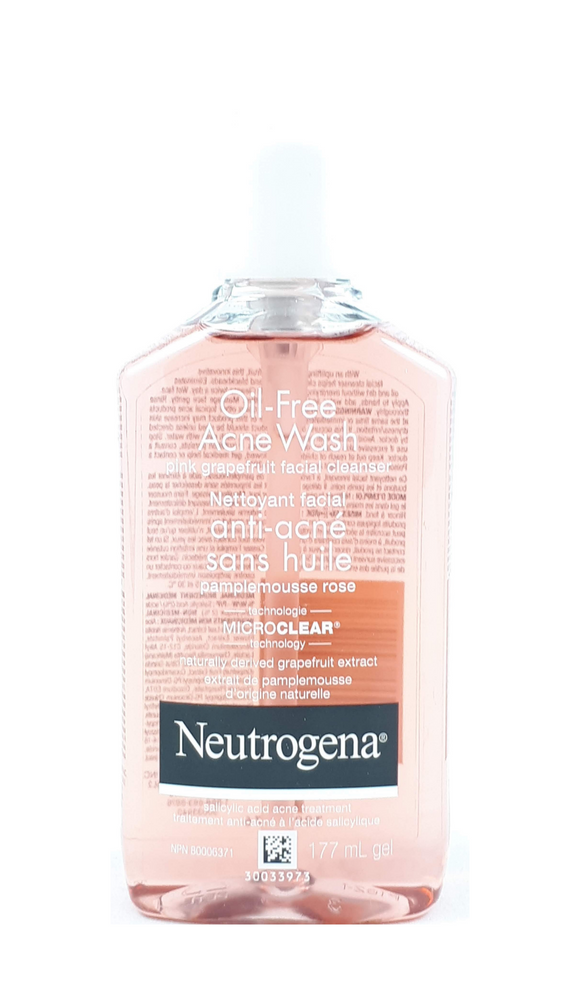 Neutrogena Acne Wash, Pink Grapfruit, 177 mL - Green Valley Pharmacy Ottawa Canada