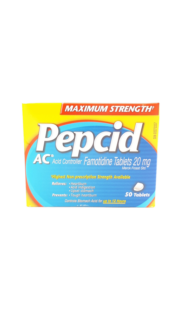 Pepcid AC, 50 tablets - Green Valley Pharmacy Ottawa Canada