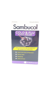 Sambucol, Cold & Flu Nasal Relief, 30 capsules - Green Valley Pharmacy Ottawa Canada