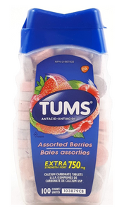 Tums, Assorted Berries, 100 tablets - Green Valley Pharmacy Ottawa Canada