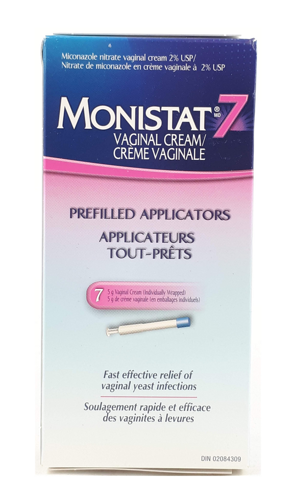 Monistat7, Pre-filled Syringes, 7 syringes - Green Valley Pharmacy Ottawa Canada