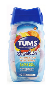 Tums, Smoothies Extra Strength, Assorted Fruit, 60 tablets - Green Valley Pharmacy Ottawa Canada