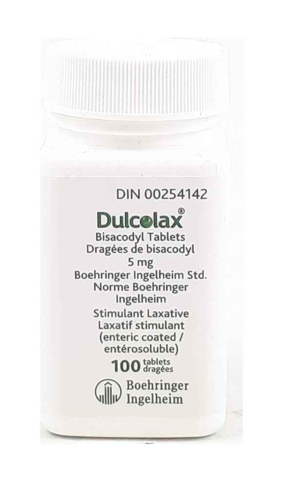 Dulcolax, 5mg, 100 Tablets - Green Valley Pharmacy Ottawa Canada