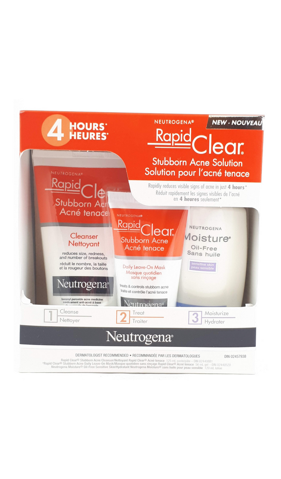 Neutrogena Stubborn Acne Kit - Green Valley Pharmacy Ottawa Canada