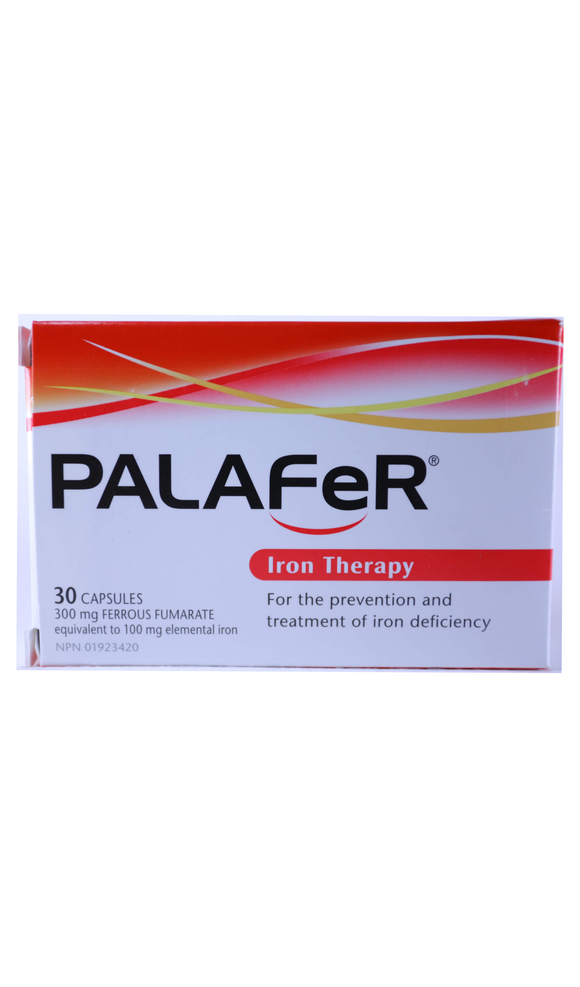 Palafer, 300mg, 30 Capsules - Green Valley Pharmacy Ottawa Canada