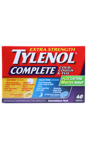Tylenol Complete, Day & Night 40 Caplets - Green Valley Pharmacy Ottawa Canada