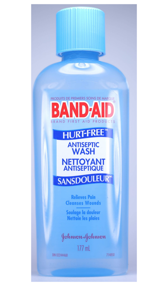 Band-Aid, Hurt-Free, Antiseptic Wash, 177 mL - Green Valley Pharmacy Ottawa Canada