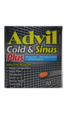 Advil Cold & Sinus Plus, 10 Caplets - Green Valley Pharmacy Ottawa Canada