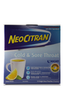 NeoCitran, Cold & Sore Throat, Lemon, 10 Pouches - Green Valley Pharmacy Ottawa Canada