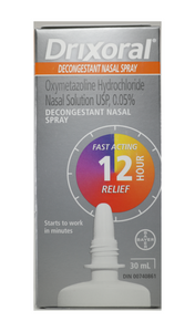 Drixoral Decongestant Nasal Spray 30 mL - Green Valley Pharmacy Ottawa Canada