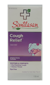 Similasan Cough Relief, 118 mL - Green Valley Pharmacy Ottawa Canada