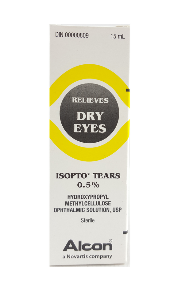 Isopto Tears 0.5%, Dry Eyes, 15 mL - Green Valley Pharmacy Ottawa Canada