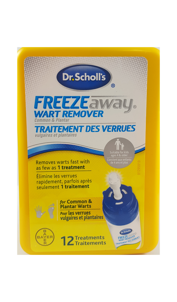 Dr. Scholl's Freeze Away Wart Remover, 12 Treatments - Green Valley Pharmacy Ottawa Canada