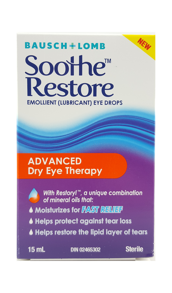 Soothe Restore, Dry Eye Therapy, 15 mL - Green Valley Pharmacy Ottawa Canada