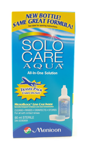 Solo Care Aqua, All in One Solution, 90 mL - Green Valley Pharmacy Ottawa Canada