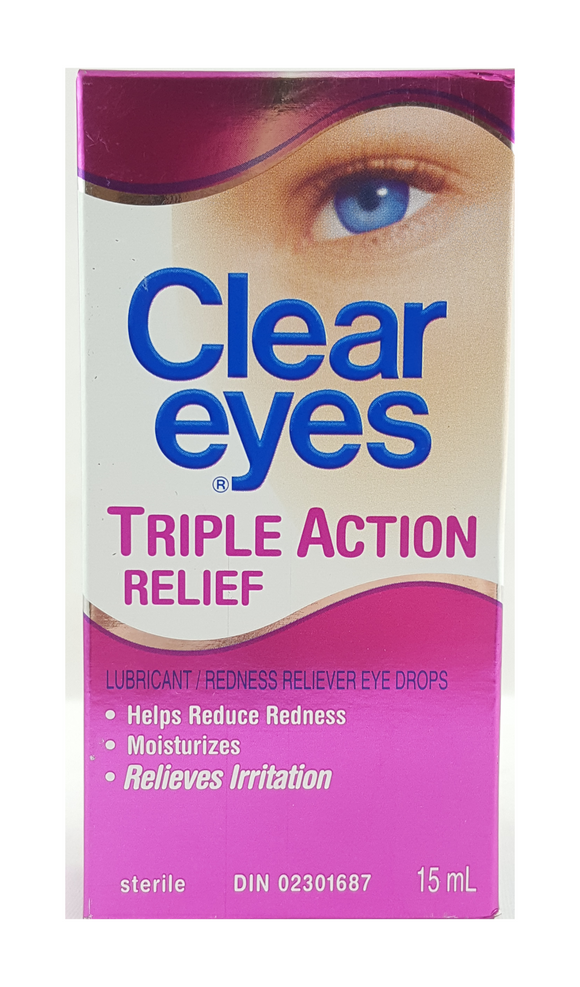 Clear Eyes, Triple Action Relief, 15 mL - Green Valley Pharmacy Ottawa Canada
