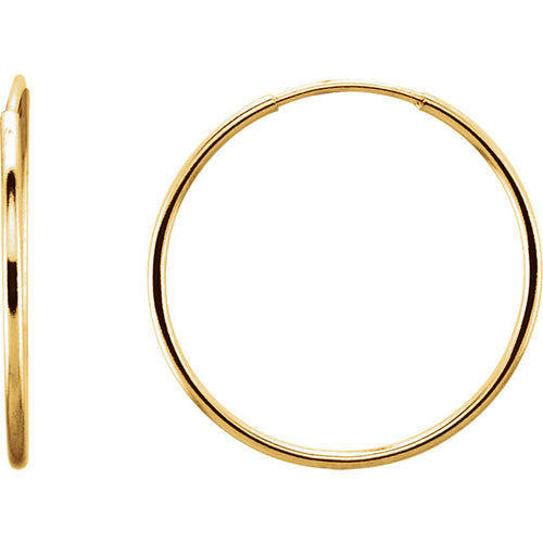 14K 24mm Endless Hoop Earrings