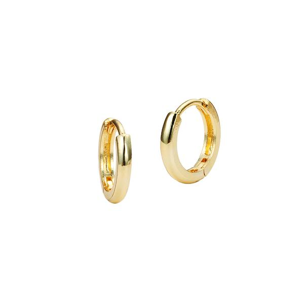 14K Yellow Gold Huggies Earrings