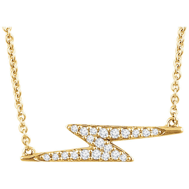 14k Diamond Lightning Bolt Necklace