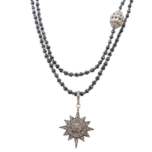 Necklace of Diamond Beaded Starburst
