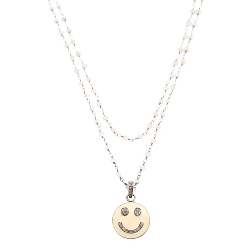 Necklace Diamond Smiley Face