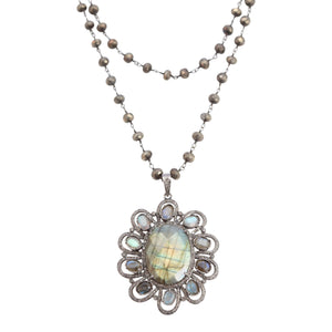 Necklace with Labradorite Pendent