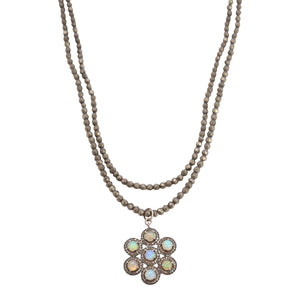 Necklace Diamond Opal Star Pendant