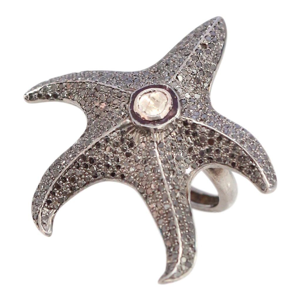 Diamond Starfish Ring