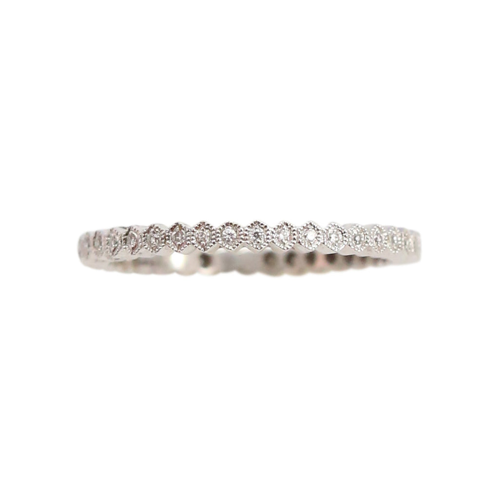 Delicate Diamond Eternity Band in 18kt White Gold Ring