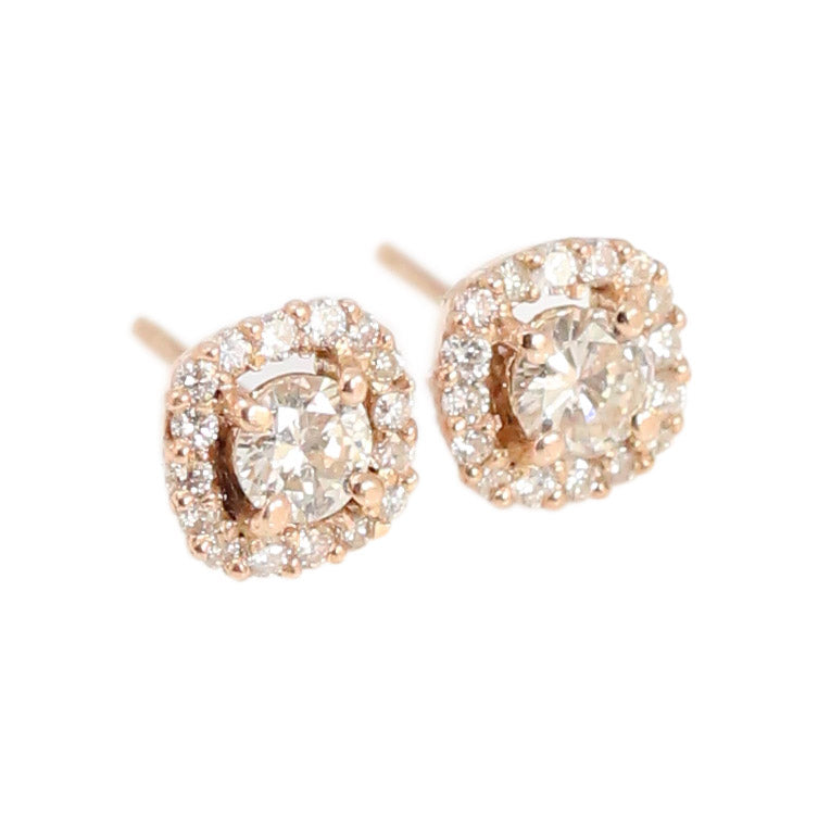 Rose Gold Diamond Studs in 18kt Rose Gold